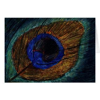 Peacock Feather Macro Card