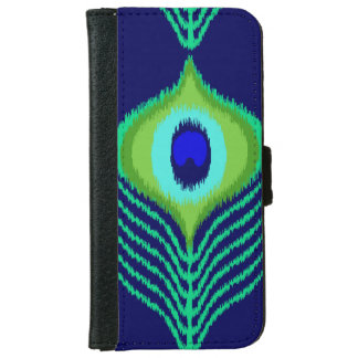 Peacock feather moroccan ikat design iPhone 6 wallet case