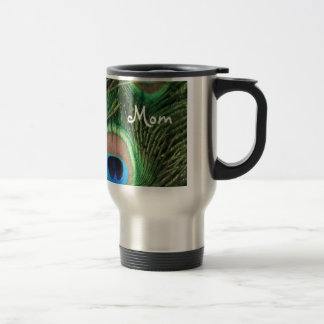 Peacock Feather Mug For Mom