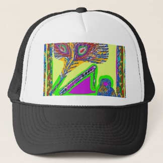 Peacock Feather n Flute of Krishna Trucker Hat