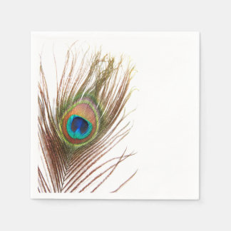 Peacock Feather Napkins Disposable Napkins