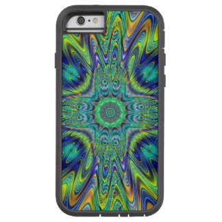 Peacock Feather Neon Fractal Funky Designer Art Tough Xtreme iPhone 6 Case