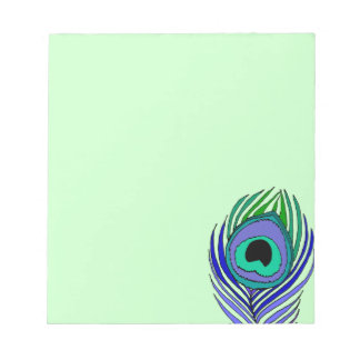 Peacock Feather Notepad