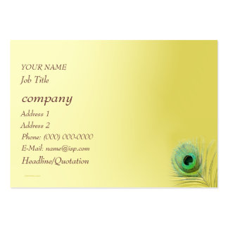 Peacock Feather on Gold Blend Business Card