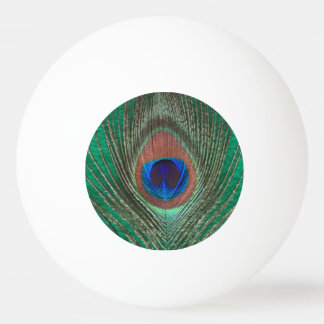 Peacock Feather on Green Double Sided Ping Pong Ball