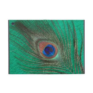 Peacock Feather on Green iPad Mini Case