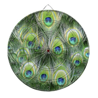Peacock Feather Pattern Dartboard