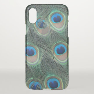 Peacock Feather Pattern iPhone X Case