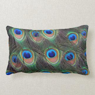Peacock Feather Pattern Lumbar Pillow