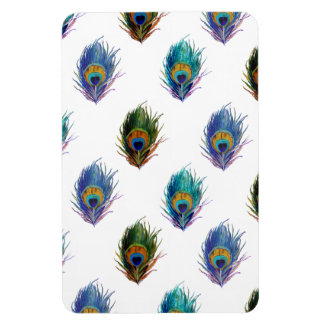Peacock feather pattern rectangular photo magnet