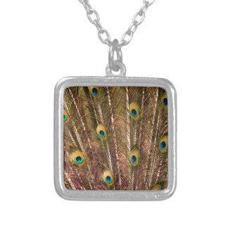 Peacock Feather Pattern Silver Plated Necklace