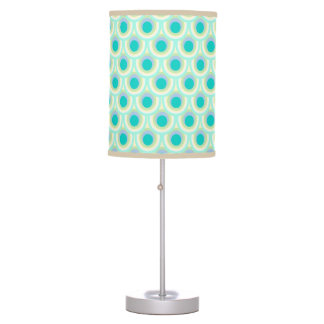 Peacock feather pattern teal lamp shade