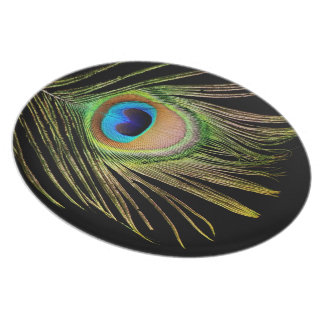 Peacock Feather Plate