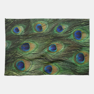 Peacock Feather Print Kitchen Towel