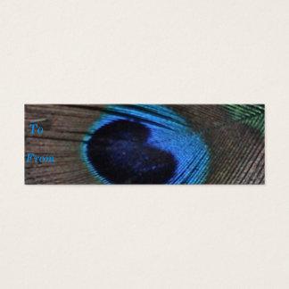 Peacock Feather Profile Card