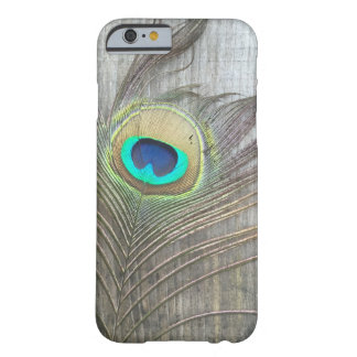 Peacock Feather Rustic iPhone Case