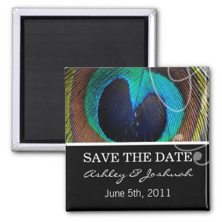 Peacock Feather Save The Date Magnets