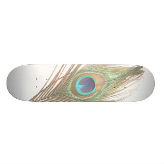 Peacock Feather Skate Board Deck