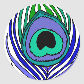 Peacock Feather Stickers