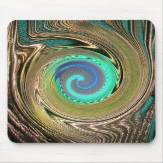 Peacock Feather Swirl Mousepad