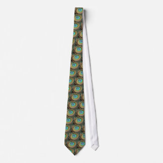 Peacock Feather Swirl Tie