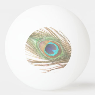 Peacock Feather Two Sided Ping Pong Ball