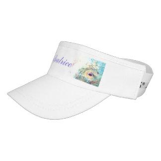 Peacock feather visor