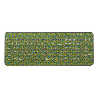 Peacock Feather Wild Nature Animal Skin Pattern Wireless Keyboard