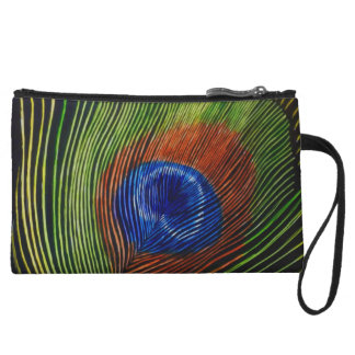 """Peacock Feather"" Wristlet Clutch"