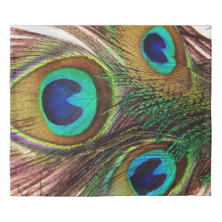 Peacock Feathers 4 Duvet Cover