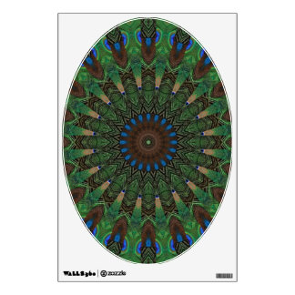 Peacock Feathers - Art for Your Toilet Seat Wall Decal