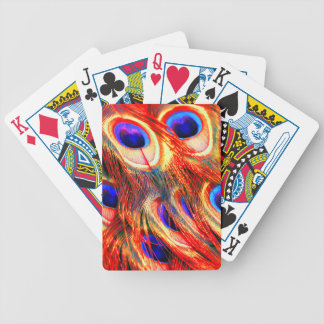 Peacock Feathers Bicycle Playing Cards