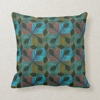 Peacock feathers classy elegant pattern pillow