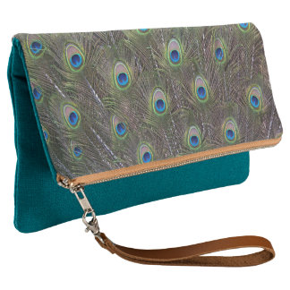 Peacock Feathers Clutch Bag