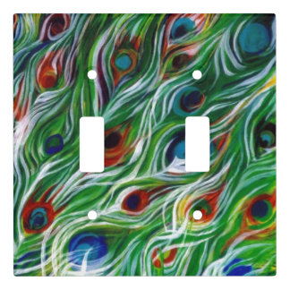Peacock Feathers Designer Light Switch Covers