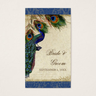 Peacock & Feathers Formal Wedding Favor Gift Tags