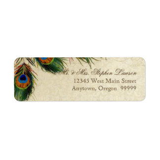 Peacock & Feathers Formal Wedding Matching Address