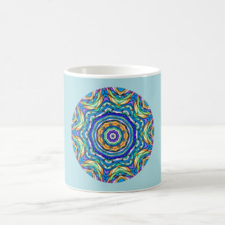 Peacock Feathers Fractal Coffee Mug