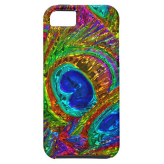 Peacock Feathers Glass Art 1 iPhone 5 Case