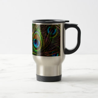 Peacock Feathers Invasion - 15 Oz Stainless Steel Travel Mug