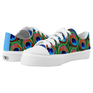 Peacock Feathers Low-Top Sneakers