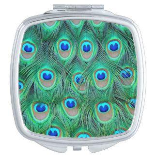 Peacock Feathers Makeup Mirror