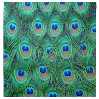 peacock feathers napkin