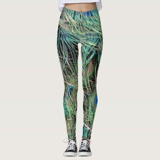 peacock feathers new growth leggings