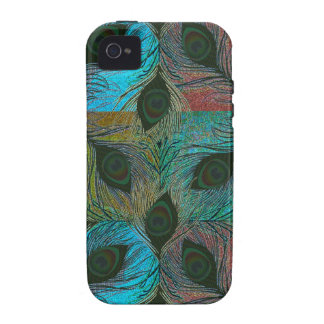 Peacock feathers pattern iPhone 4 cases