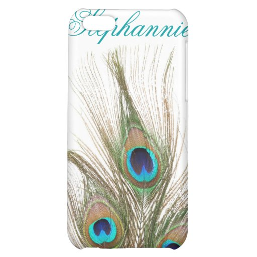 Peacock Feathers Personalized Name iPhone 4 Case