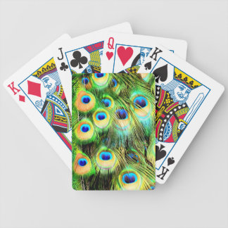 Peacock Feathers Playing Cards
