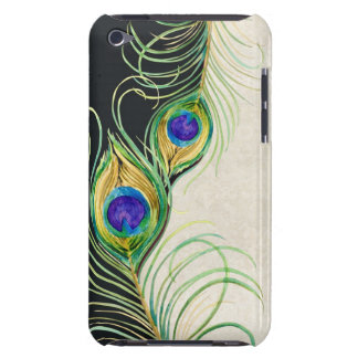 Peacock Feathers Royal Damask Personalized Names iPod Touch Case