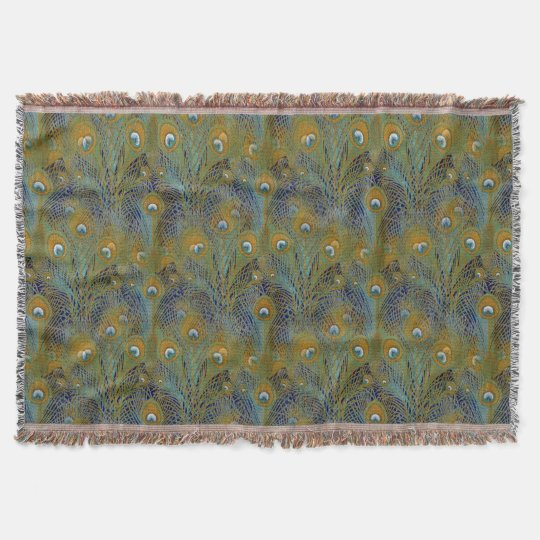Peacock Feathers Rugs Throw Blanket