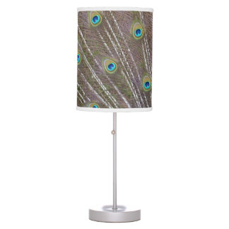Peacock Feathers Table Lamp
